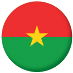 Burkina Faso Country Flag 25mm Flat Back